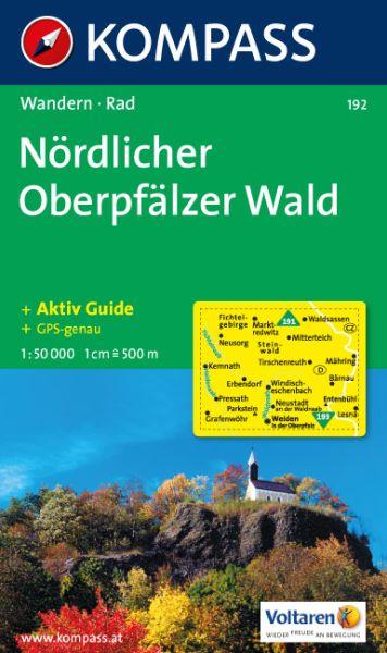 Kompass Karte 192, Nördlicher Oberpfälzer Wald 1:50.000, Wandern, Rad fahren