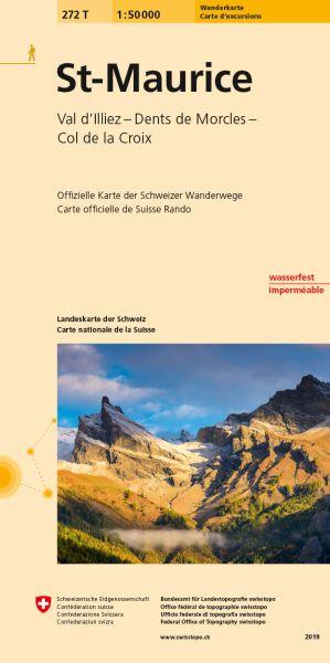 272 T St-Maurice Wanderkarte 1:50.000 - Swisstopo