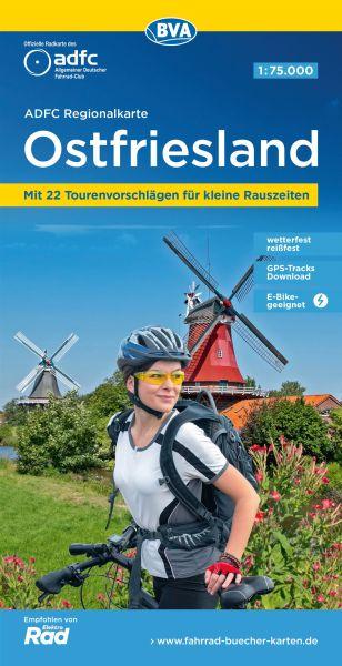 ADFC-Regionalkarte, Ostfriesland, Radwanderkarte