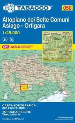 Tabacco 050 Altopiano - Dei sette Comuni Wanderkarte 1:25.000