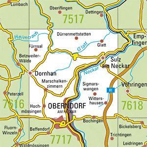 7617 SULZ A.N. topographische Karte 1:25.000 Baden-Württemberg, TK25