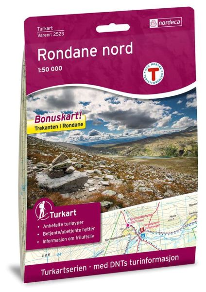 Rondane Nord Wanderkarte 1:50.000 – Norwegen, Turkart 2523 von Nordeca