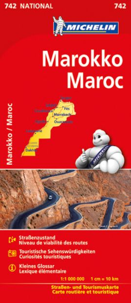 Michelin 742 Marokko Straßenkarte 1:1.000.000