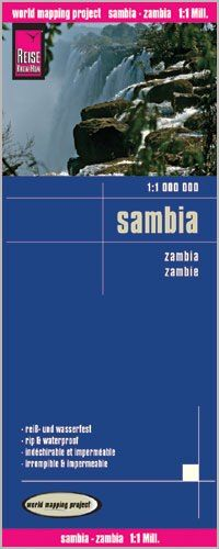 Sambia Landkarte 1:1.000.000, Reise Know-How
