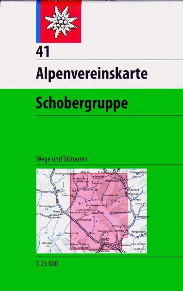DAV Alpenvereinskarte 41 Schobergruppe, Ski- und Wanderkarte 1:25.000
