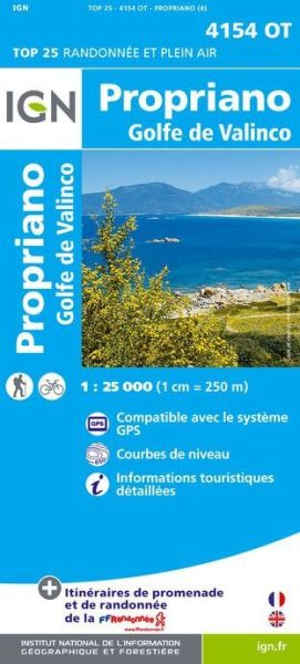 IGN 4154 OT Propriano - Golfe de Valinco, Korsika Wanderkarte 1:25.000