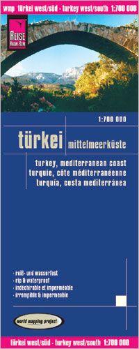 Türkei: Mittelmeerküste & Zypern Landkarte 1:700.000, Reise Know-How