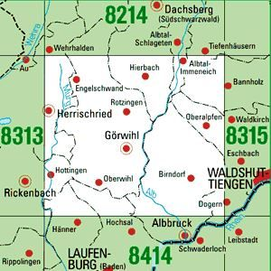 8314 GÖRWIHL topographische Karte 1:25.000 Baden-Württemberg, TK25