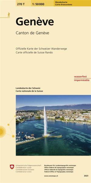 270 T Geneve Wanderkarte 1:50.000 - Swisstopo