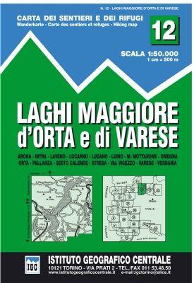 IGC 12 - Wanderkarte für Laghi Maggiore d'Orta e di Varese 1:50.000