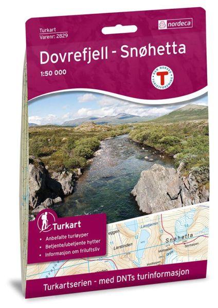 Dovrefjell - Snohetta / Snøhetta Wanderkarte 1:50.000 – Norwegen, Turkart 2829 von Nordeca