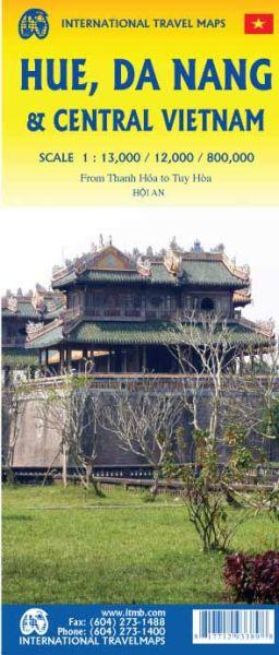 Hue Stadtplan & Zentral Vietnam Landkarte, ITM