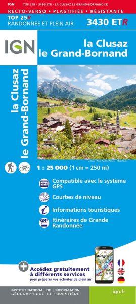 IGN 3430 ETR La Clusaz / Grand-Bornand, Frankreich reiß- und wasserfeste Wanderkarte 1:25.000
