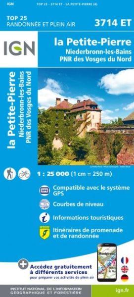 IGN 3714 ET La Petite Pierre, Frankreich topographische Wanderkarte 1:25.000