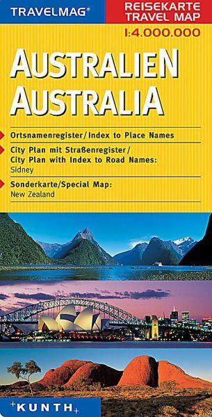 Travelmag Straßenkarte Australien 1:4.000.000