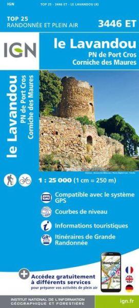 IGN 3446 ET Le Lavandou, Frankreich Wanderkarte 1:25.000