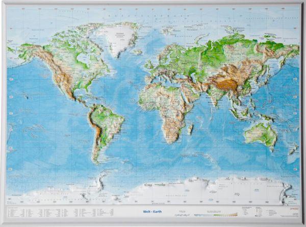 Welt Relief klein ohne Rahmen – 39 cm x 29 cm