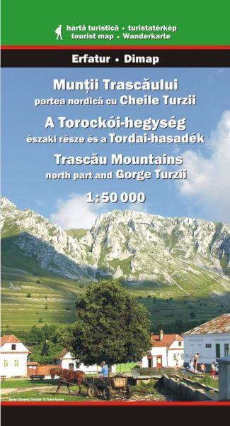 Karpaten Wanderkarte: Muntii Trascaului / Trascau-Gebirge Nord mit Turzii-Schlucht 1:50.000