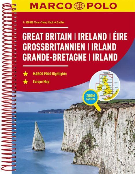 Großbritannien, Irland, Straßenatlas, 1:300.000, Marco Polo