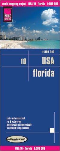 USA 10 Florida Landkarte 1:500.000, Reise Know-How