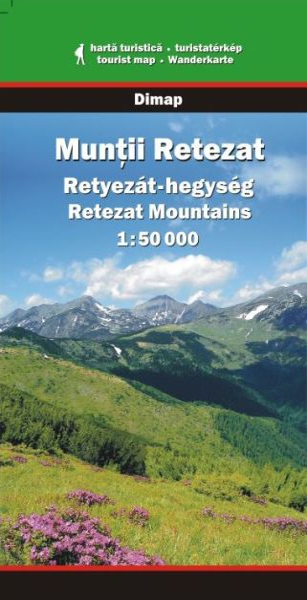 Karpaten Wanderkarte: Muntii Retezat / Retezat-Gebirge, Dimap
