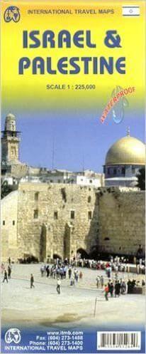 Israel & Palästina Landkarte 1:225.000, ITM
