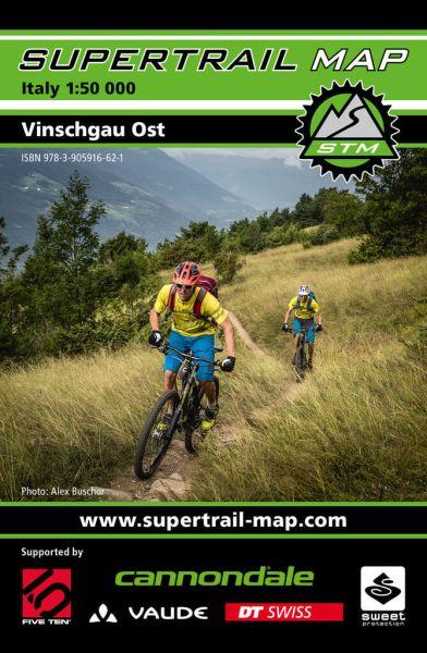 Supertrail Map Vinschgau Ost Mountainbike-Karte, 1:50.000, Wasser- und reissfest (STM)