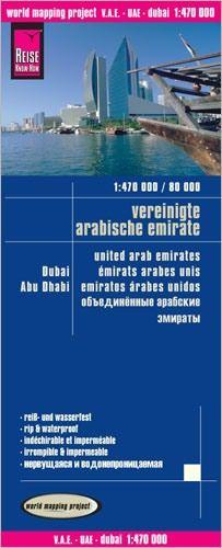 V.A.E., Dubai, Abu Dhabi Landkarte 1:470.000 / 80.000, Reise Know-How