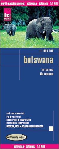 Botswana Landkarte 1:1.000.000, Reise Know-How