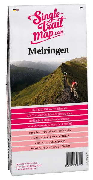 Swiss Singletrail Map Blatt 10 Meiringen Mountainbikekarte 1:50.000