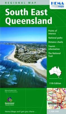 HEMA Regional Map South East Queensland 1:500.000