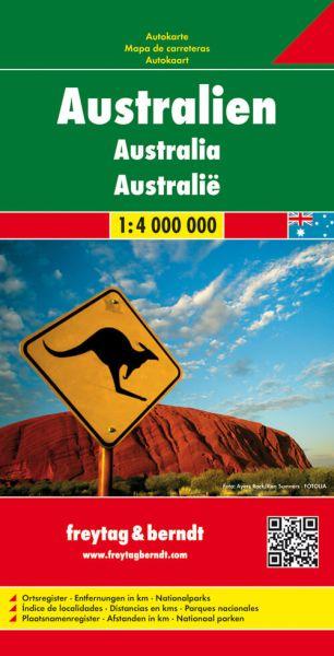 Australien, Landkarte 1:4.000.000, Freytag und Berndt