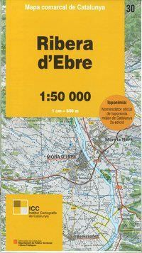 Ribera d'Ebre, Katalonien topographische Karte, Spanien 1:50.000, ICC 30