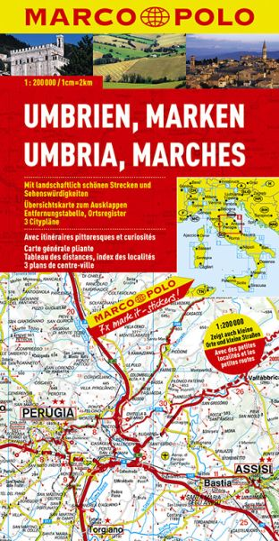 Umbrien Straßenkarte 1:200.000, Marco Polo Italien Blatt 8