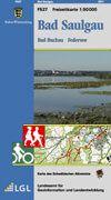 Bad Saulgau Freizeitkarte in 1:50.000 - F527 mit Rad- und Wanderwegen