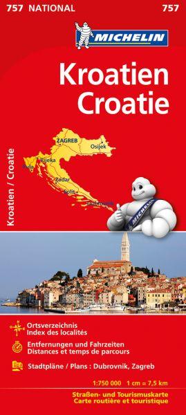 Michelin 757 Kroatien Straßenkarte; Ortsverzeichnis, Stadtpläne: Dubrovnik