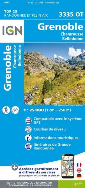 IGN 3335 OT Grenoble, Chamrousse, Frankreich Wanderkarte 1:25.000