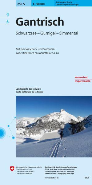 253 S Gantrisch topographische Skitourenkarte 1:50.000