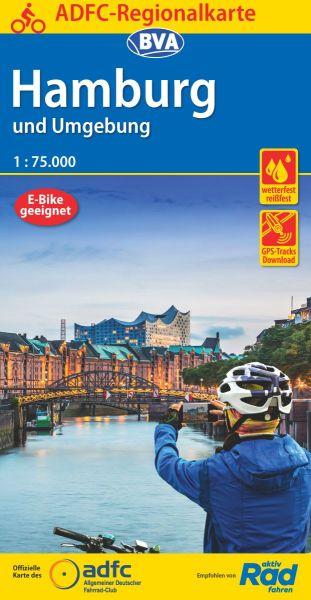 ADFC-Regionalkarte, Hamburg und Umgebung, Radwanderkarte