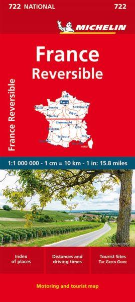 Michelin 722 Frankreich, doppelseitig; France, recto-verso 1:1.000.000