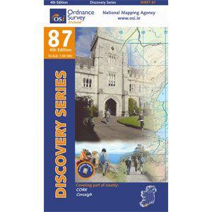 OSI 87 Cork, Corcaigh Wanderkarte 1:50.000 - Ordnance Survey Ireland