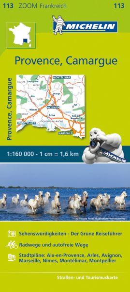Michelin 113 Provence, Camargue Straßenkarte, 1:160.000