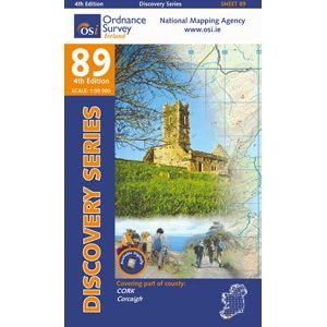 OSI 89 Cork, Corcaigh Wanderkarte 1:50.000 - Ordnance Survey Ireland