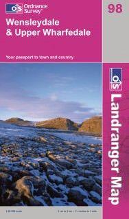 Landranger 98 Wensleydale & Upper Wharfedale, Großbritannien Wanderkarte 1:50.000