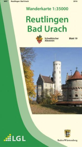 Reutlingen - Bad Urach Wanderkarte 1:35.000 Schwäbischer Albverein