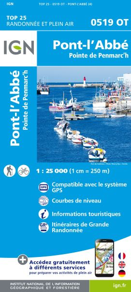 IGN 0519 OT Pont-L'Abbe, Penmarc'h, Frankreich Wanderkarte 1:25.000