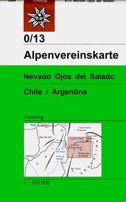 Alpenvereinskarte 0/13 Nevado Ojos del Salado, 1:100.000