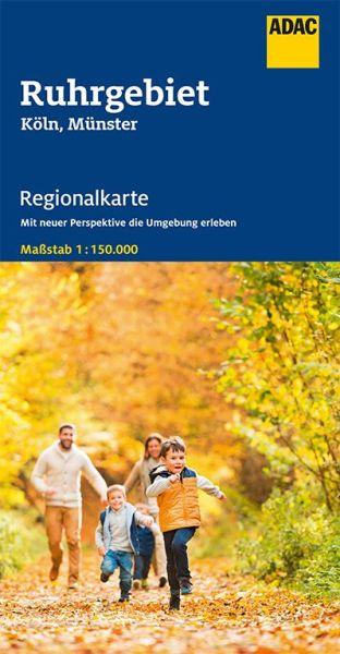 Bl. 7 Ruhrgebiet Regionalkarte 1:150.000, ADAC Straßenkarte