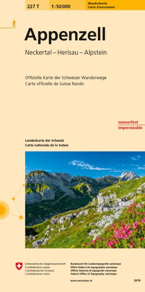 227 T Appenzell, topographische Wanderkarte Schweiz 1:50.000