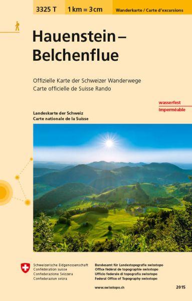 3325 T Hauenstein - Belchenflue Wanderkarte 1:33.333 wetterfest - Swisstopo